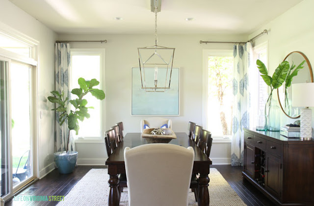 bright natural dining room