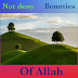 Allah bless uncountable bounties.