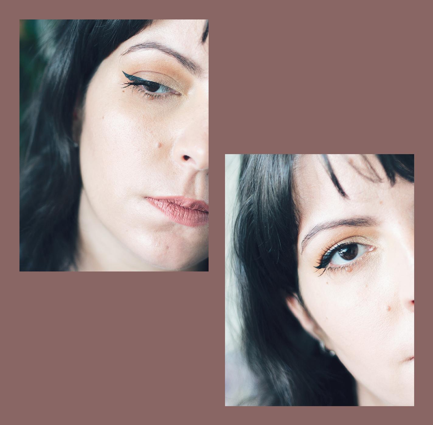 Ideia para maquilhagem de olhos com wing liner