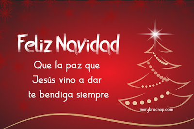 imagen roja con saludo frases de navidad cristiana