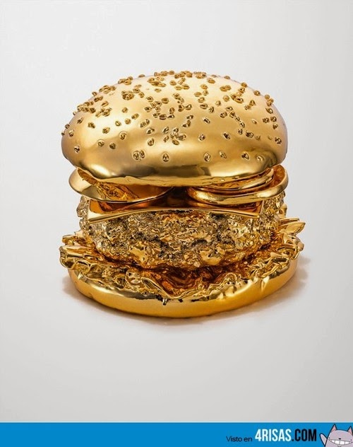 Hamburguesa hecha de oro