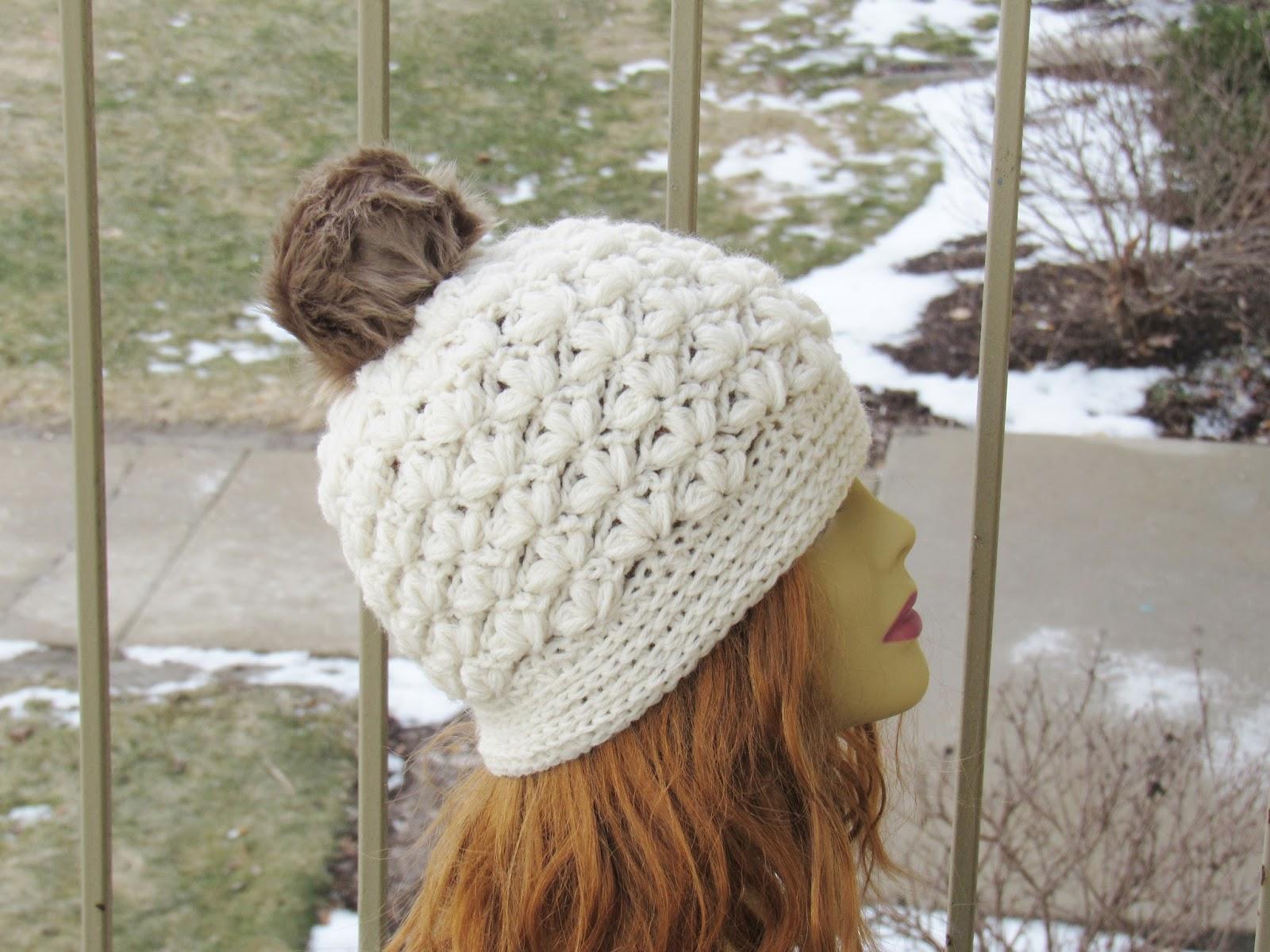 Puff Stitch Slouchy Beanie Crochet Pattern. Slouchy 5d92845b438
