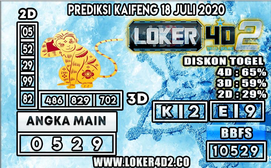 PREDIKSI TOGEL LOKER4D2 KAIFENG 18 JULI 2020