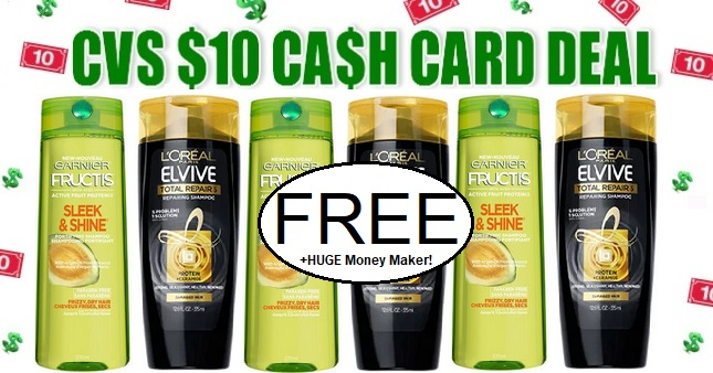 FREE Garnier & L'Oreal Hair Care CVS Deal 4-5-4-11