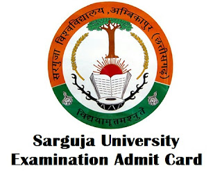 Sarguja University Ambikapur Admit Card 2017
