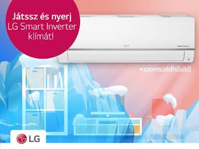 Nyerj LG Smart Inverter, szupercsendes, energitakarékos és wifi-s légkondicionálót!