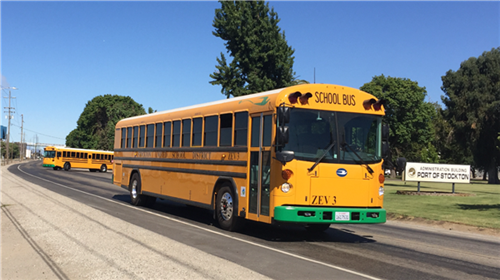 Stockton Unified School District's new electric school buses