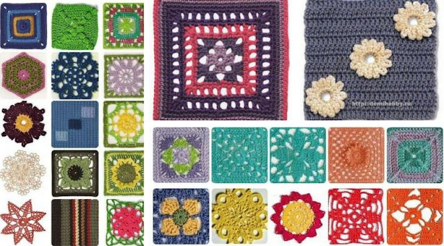 113 Grannys y/o Motivos a Crochet - Patrones para Descargar
