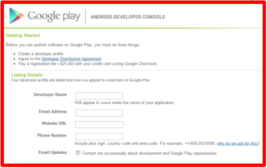 Create Google Play Store Account | Register for Google Play Android account