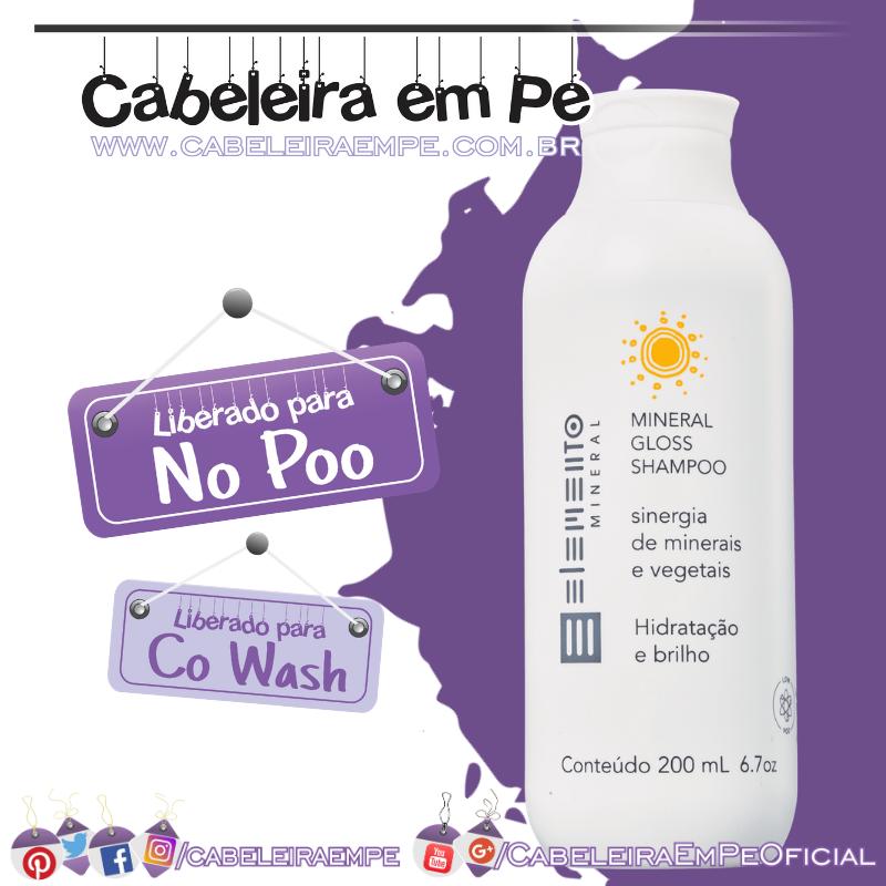 Condicionador Mineral Gloss Hidratação E Brilho - Elemento Mineral (No Poo e co wash)