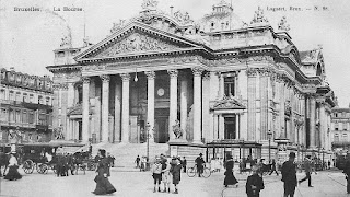 post card Bruxelles La Bourse, around 1900