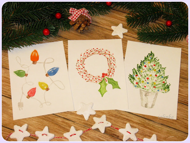"Card  design  ""Christmas  Wreath""  Ellen  Maurer - Stroh."