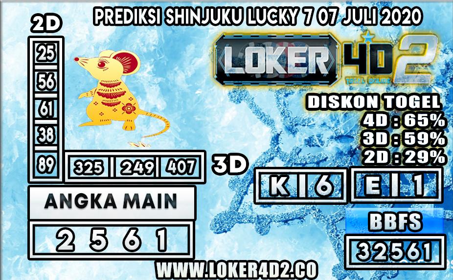 PREDIKSI TOGEL SHINJUKU LUCKY 7 LOKER4D2 07 JULI 2020