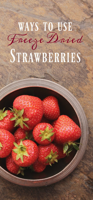 We use freeze dried strawberries all the time at our house. See our favorite ways to incorporate these tasty and healthy foods!