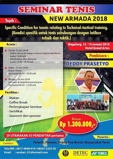Seminar Tenis New Armada 2018 - Magelang, Jawa Tengah
