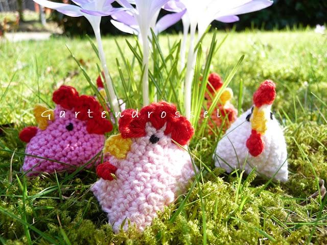 gehäkelte Hühnchen