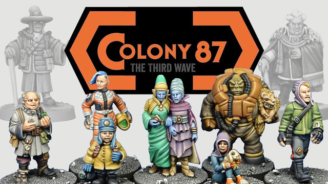 Crooked Dice: Colony 87 - The Third Wave - 28mm Sci-Fi Civilians Kickstarter