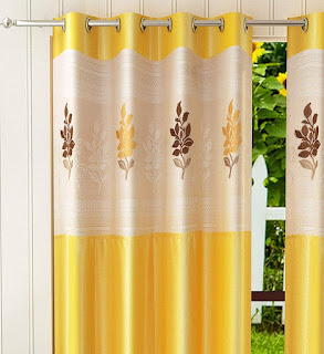 Home Utsav 1 Piece Floral Net Polyester Curtains for Door Review