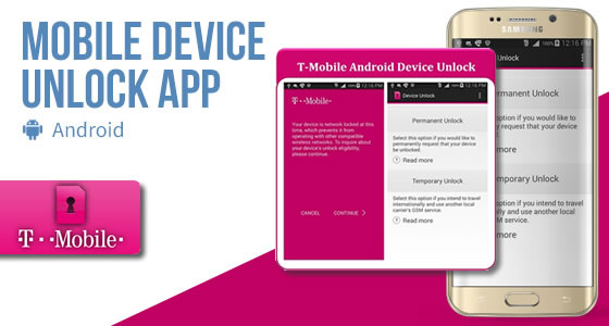 Mobile Device Unlock App for T-Mobile - Use Any SIM Card