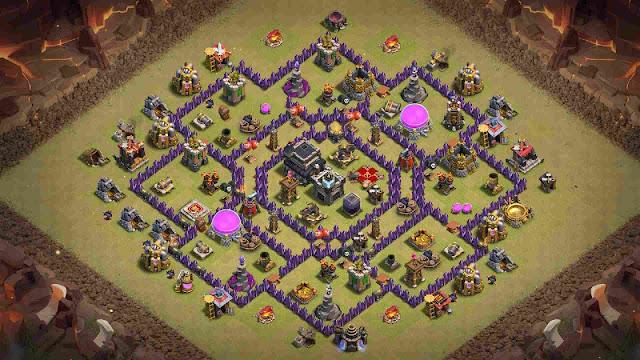 base coc th 9 war anti 3 star