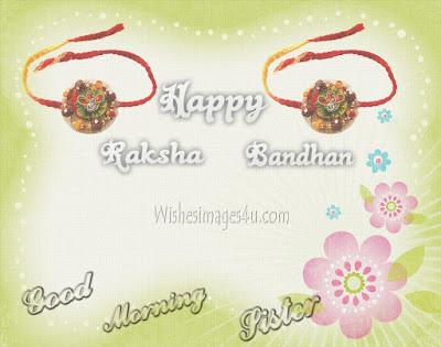 Raksha Bandhan 2019 Good Morning wishes Images for Sister