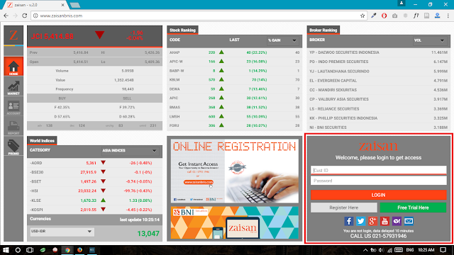 Cara Trading Saham dengan Web Zaisan