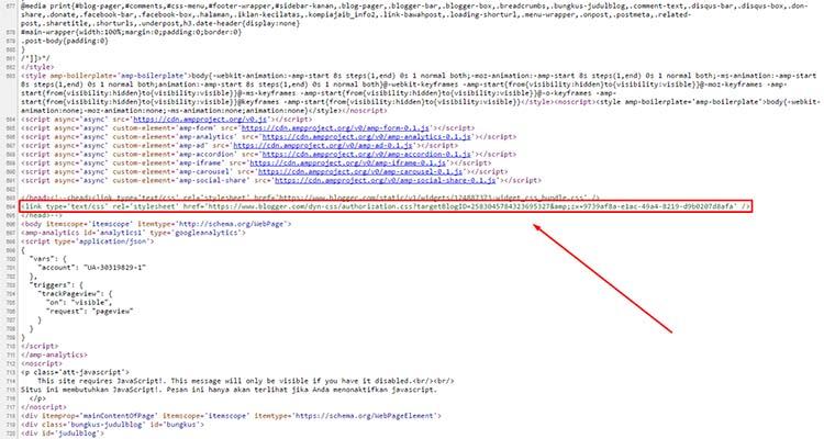 CSS reset Blogger