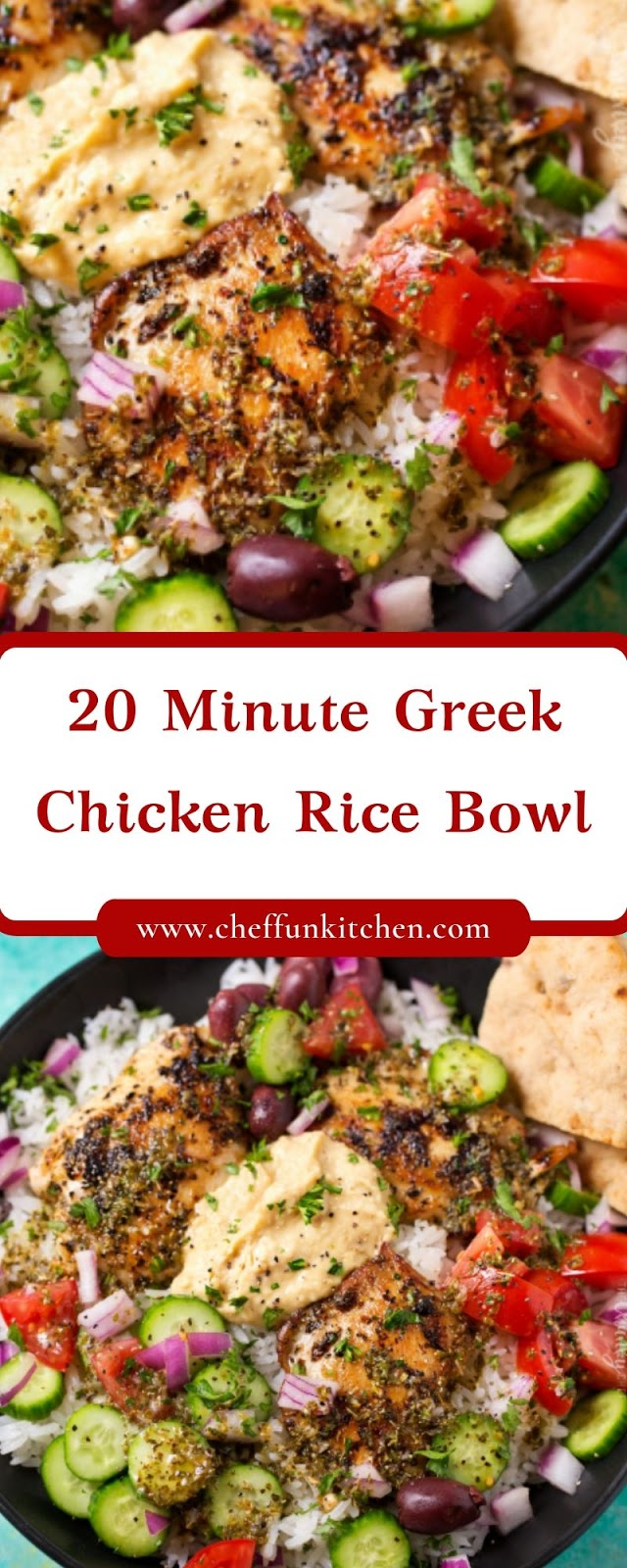 20 Minute Greek Chicken Rice Bowl