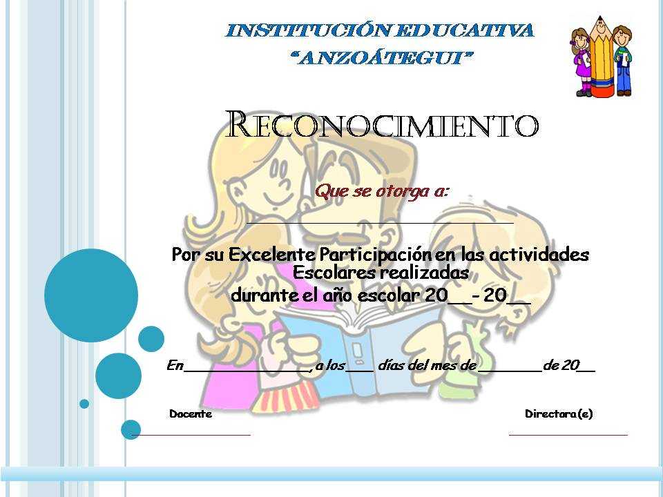 Planeta Escolar Diplomas y Reconocimientos a padres y familia - certificado de reconocimiento para imprimir