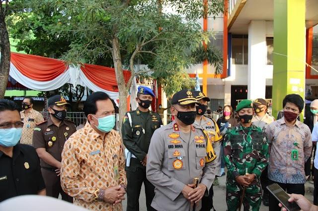 Kapolda Sumsel Tinjau Langsung Pelaksanaan Operasi Yustisi Di Kota Prabumulih