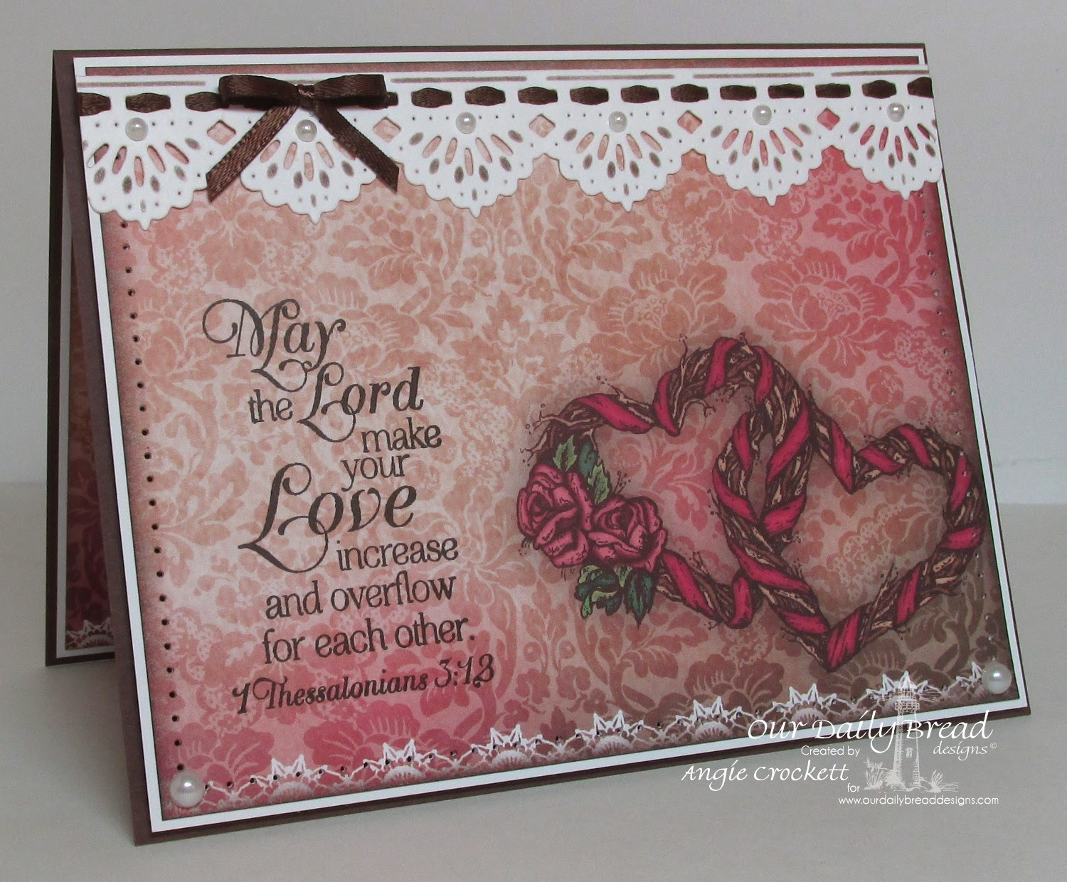 ODBD Heart and Soul Paper Collection, ODBD Love Scriptures, ODBD Custom Beautiful Borders Dies, Card Designer Angie Crockett