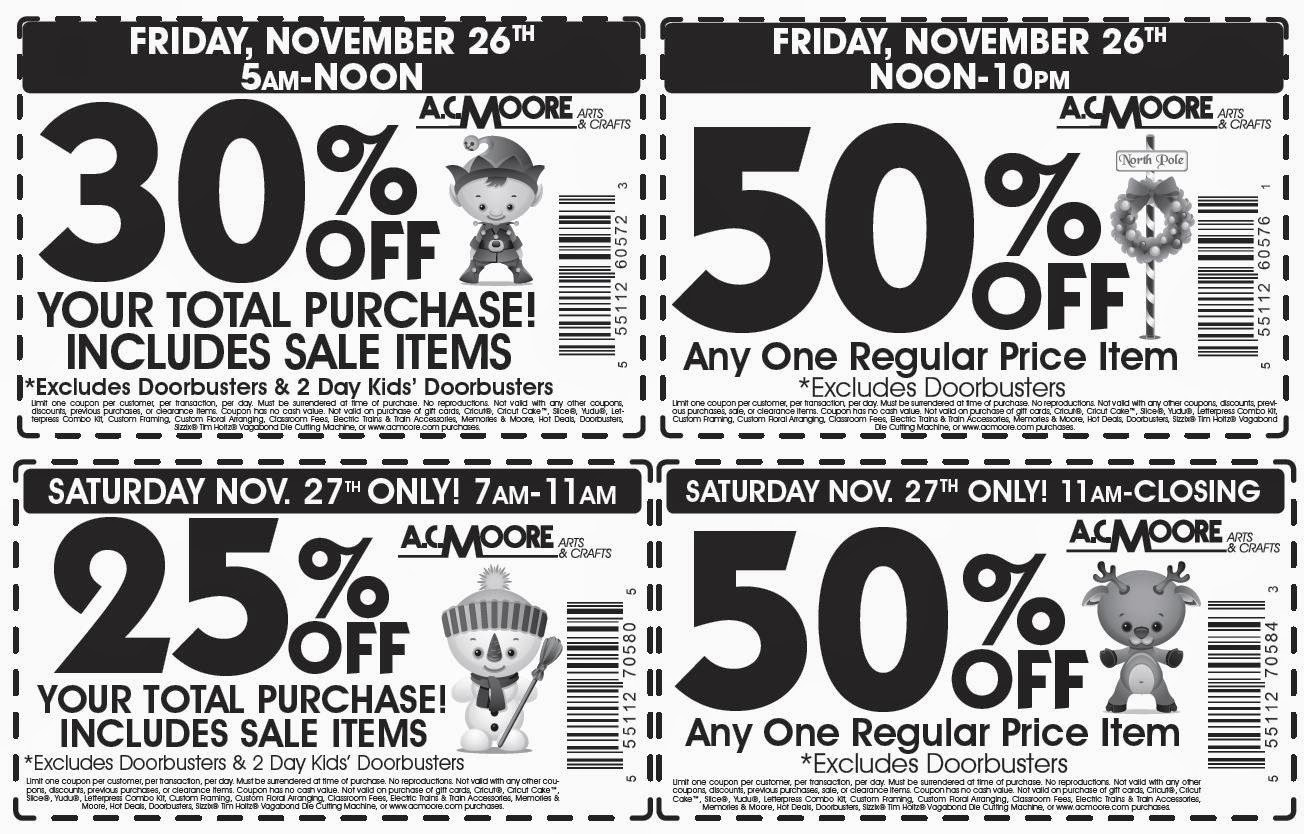 graphic regarding Ac Moore Printable Coupon called Discount coupons for ac moore craft shop : Property depot within just retail store