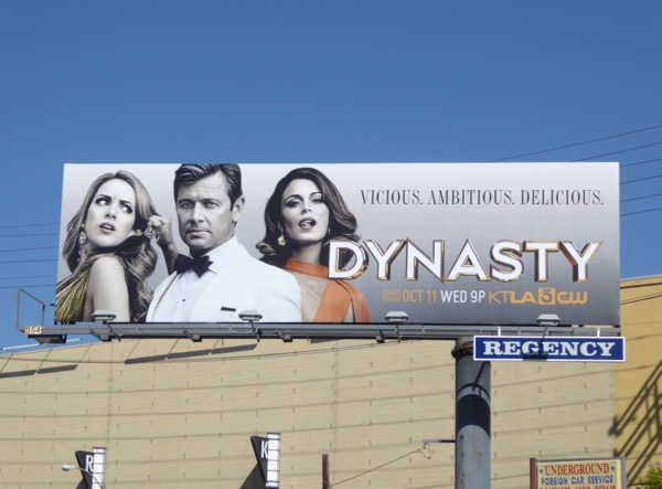 Dynasty TV remake billboard