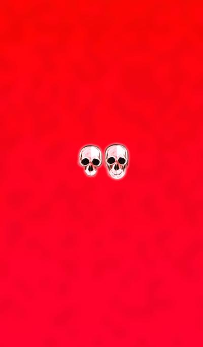 Crystal red skull