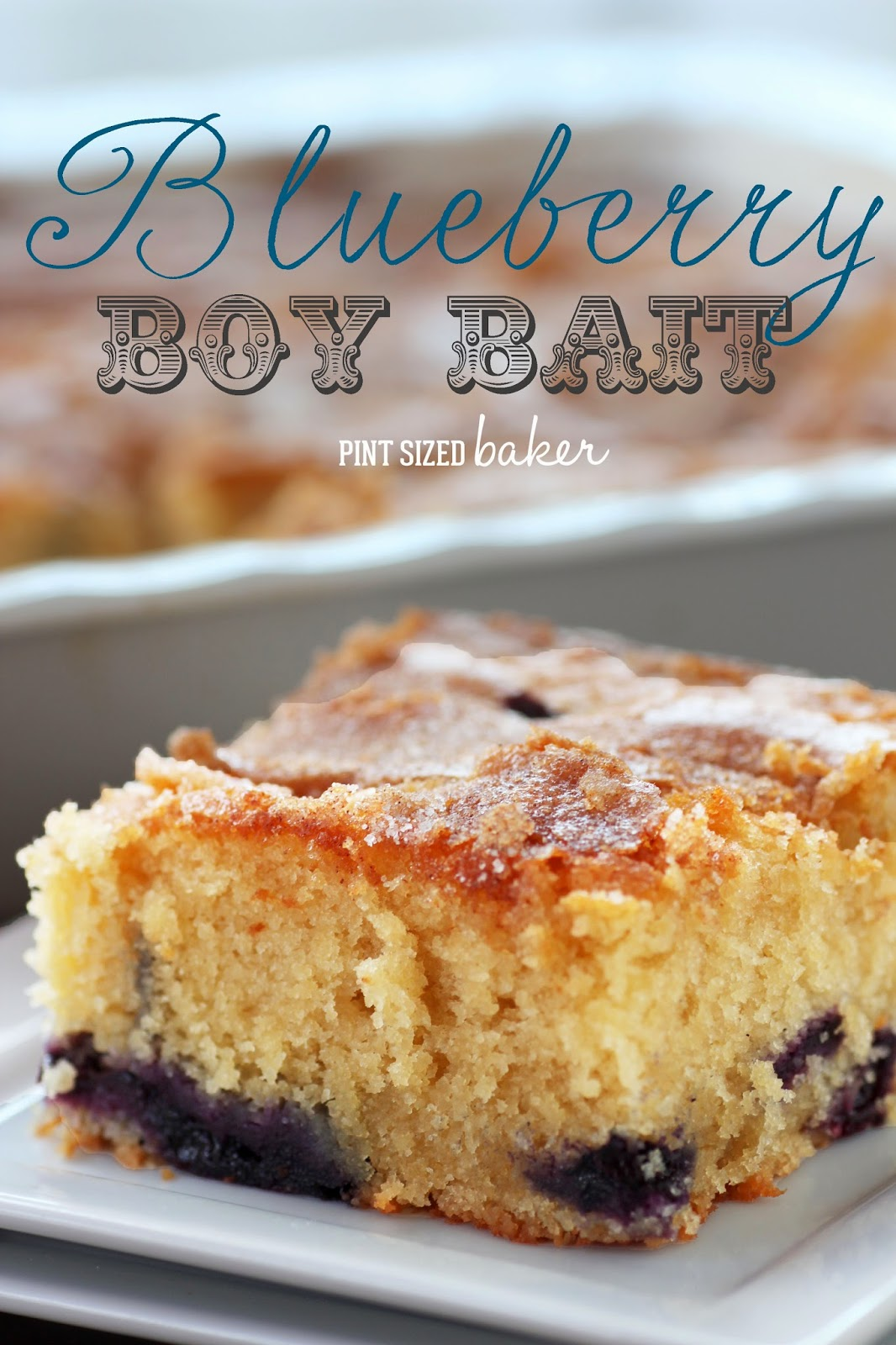 Enjoy this delicious Blueberry Cake. It's sure to make the all the boys happy! from @PintSizedBaker