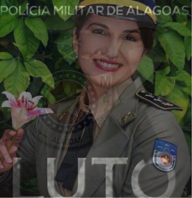 PM/AL emite nota de pesar pelo falecimento da tenente-coronel Cláudia Falcão que lutava contra um câncer