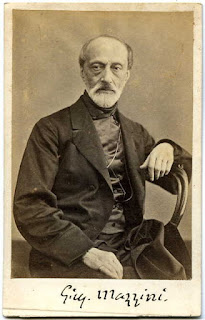 Giuseppe Mazzini captured in an early photograph