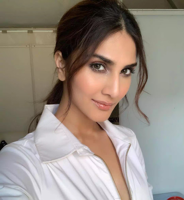 Vaani Kapoor Low Ponytail