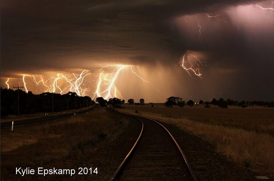 train tracks and orange1 - photo #45