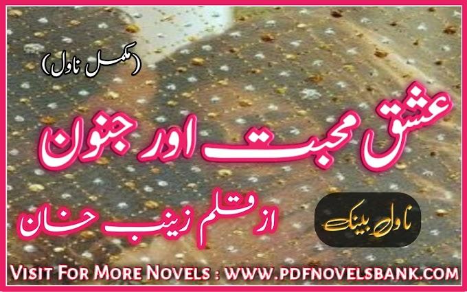Ishq Mohabbat Aur Junoon by Zainab Khan Novel Complete Pdf Download