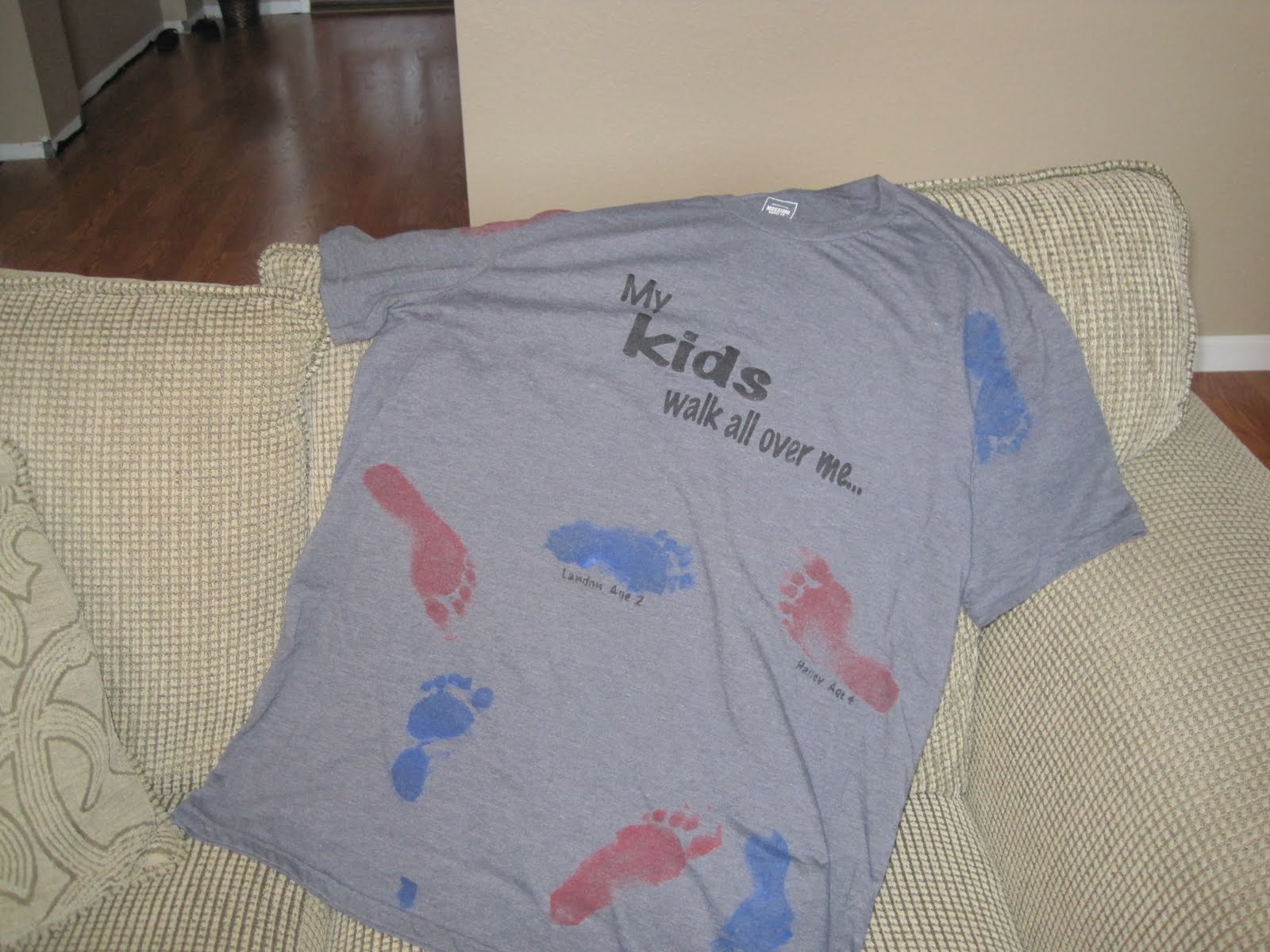 Dad will wear his footprint shirt with pride this Father's Day!