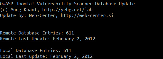 Joomscan Security Scanner updated to 611 Joomla vulnerabilities Database