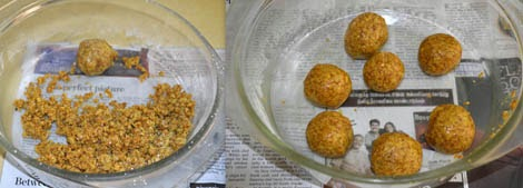 how to prepare moong dal laddu