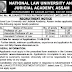 Various Teaching posts (Law) at The National Law University and Judicial Academy, Assam - last date 31/08/2019