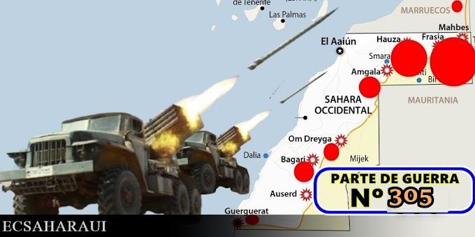 Parte de Guerra Nº 305. Guerra del Sáhara Occidental.
