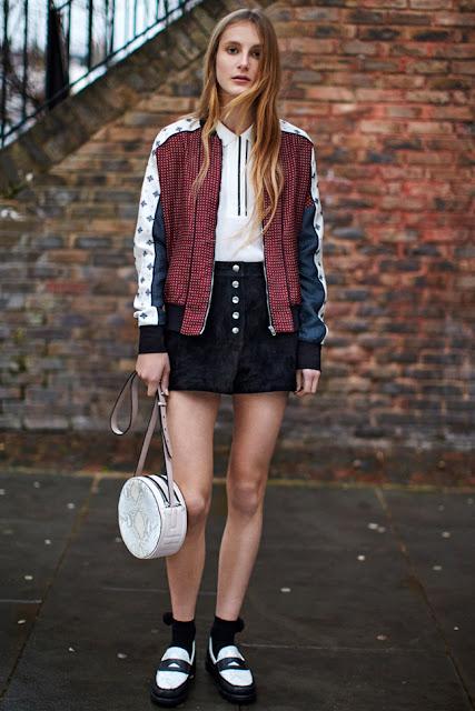 bomber jacket spring street style