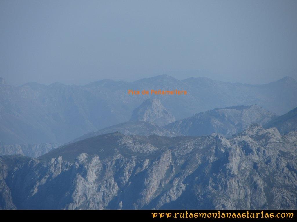 Ruta Ercina, Verdilluenga, Punta Gregoriana, Cabrones: Vista desde la Verdilluenga de la Pica de Peñamellera