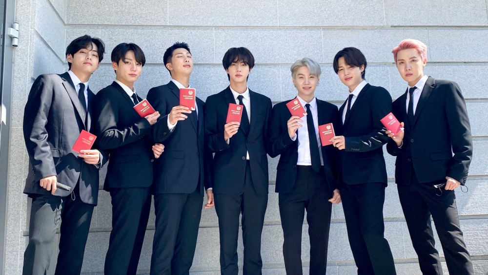 BTS Received Certificate of Special Envoy from the President of South Korea