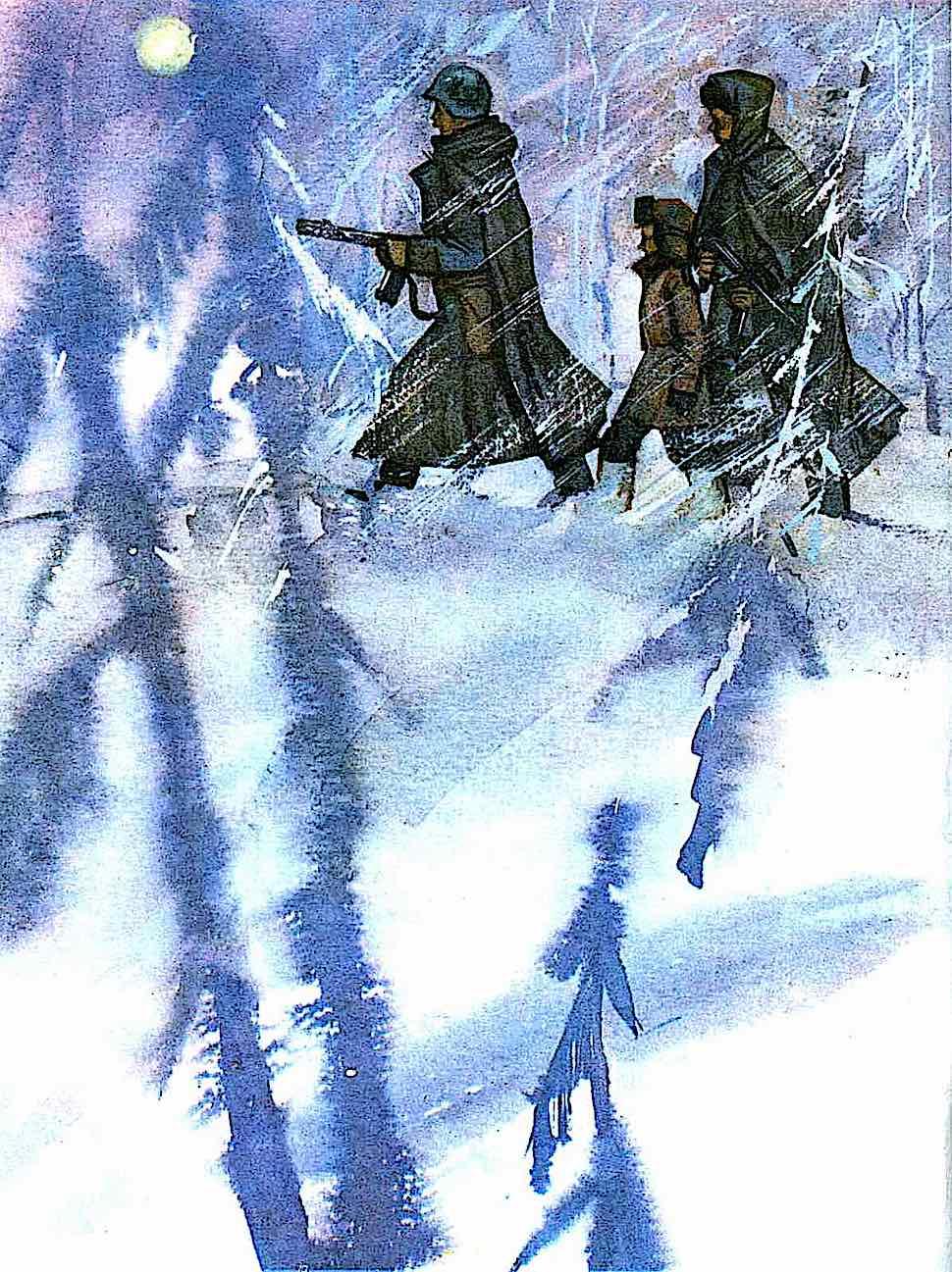 a Soviet Children's Book illustration about WW2