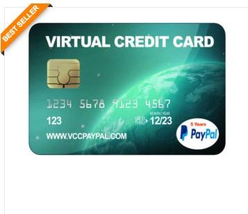Jual VCC Paypal 5 Tahun